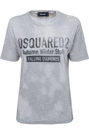 Dsquared2 Printed Cotton & Viscose Jersey T-shirt