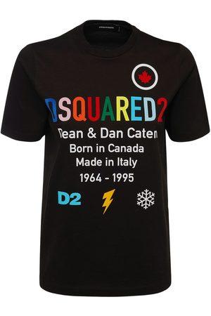 Dsquared2 D2 Rainbow Logo Cotton Jersey T-shirt