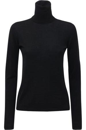 Max Mara Dame Pologensere - Wool Turtleneck Sweater