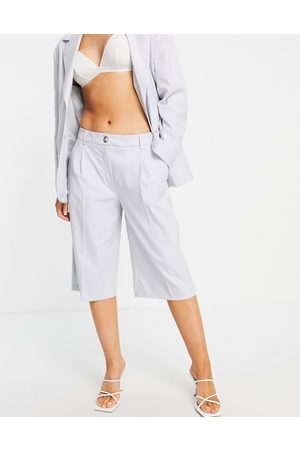 SELECTED Femme wide leg shorts co-ord in light grey
