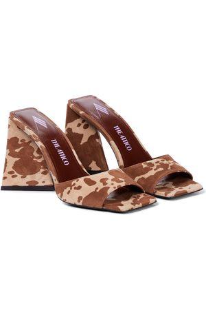 The Attico Devon cow-print suede sandals