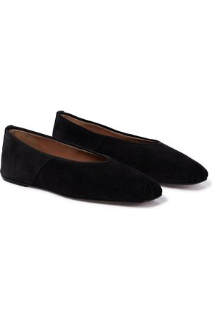 The Row Suede ballet flats