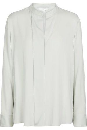 Vince Stretch-silk satin blouse
