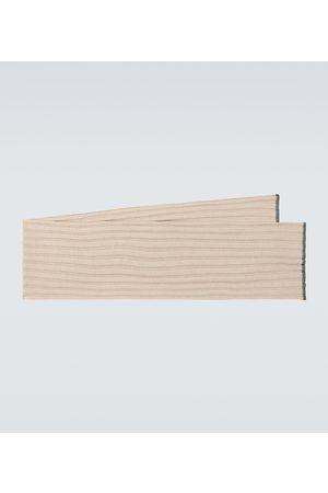 Brunello Cucinelli Herre Skjerf - Ribbed cashmere scarf