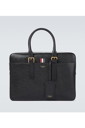 Thom Browne Grained leather briefcase