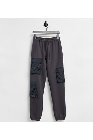 Missguided Co-ord jogger with pocket detail in black