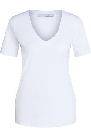 Oui Dame Kortermede - T-Shirt V-Neck