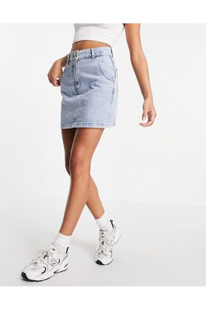 MANGO Denim mini skirt in blue