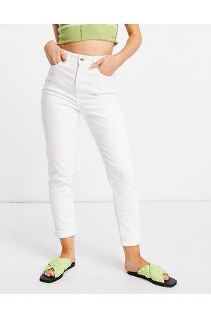 New Look Dame High waist - Waist enhance mom jean in white