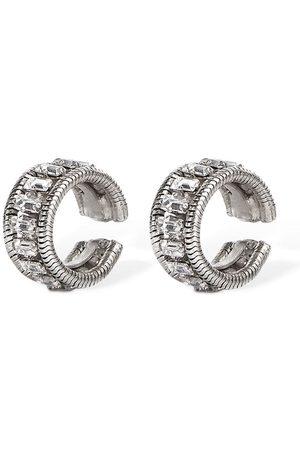 YUN YUN SUN Set Of 2 Anker Crystal Ear Cuffs