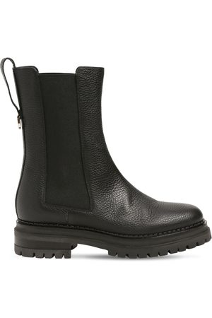 Sergio Rossi 30mm Sr Joan Leather Chelsea Boots