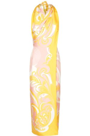 EMILIO PUCCI Silk Twill Printed Sleeveless Dress
