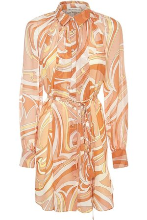 Emilio Pucci Printed Georgette Mini Dress