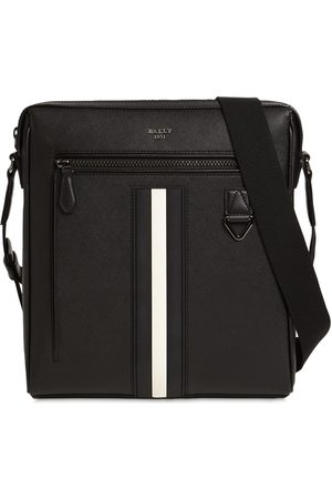 Bally Logo Stripe Leather Crossbody Bag