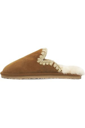Mou Dame Loafers - 10mm Eskimo Suede Slippers