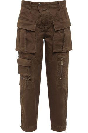 Dsquared2 Dame Cargobukser - Stretch Cotton Twill Cargo Pants