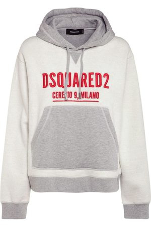 DSQUARED2 Logo Cotton Jersey Hoodie