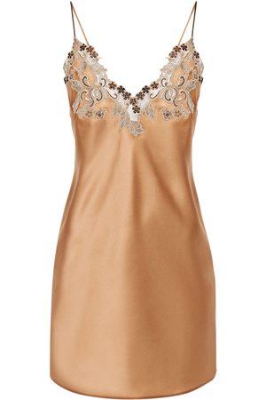 La Perla Maison Silk & Lace Slip Dress
