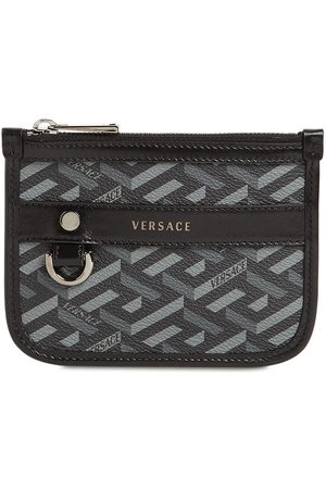 VERSACE Small Monogram Coated Canvas Pouch