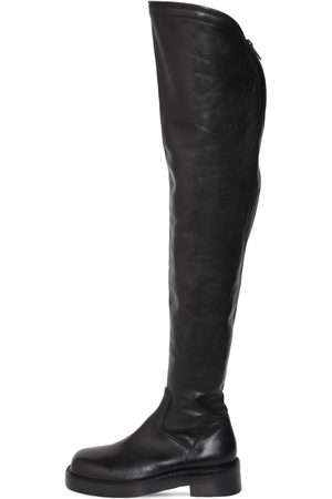 ANN DEMEULEMEESTER 25mm Nicky Leather Over-the-knee Boots
