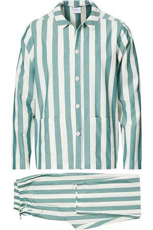 Nufferton Herre Pyjamaser - Uno Striped Pyjama Set Green/White