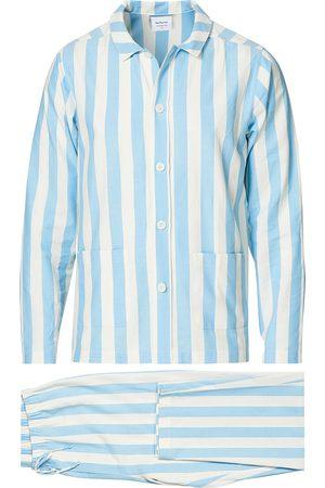 Nufferton Herre Pyjamaser - Uno Striped Pyjama Set Blue/White