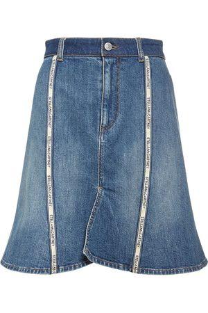 Stella McCartney Dame Denimskjørt - Cotton Denim A Line Skirt