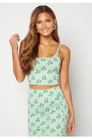 BUBBLEROOM Thelise singlet Green / Floral XS