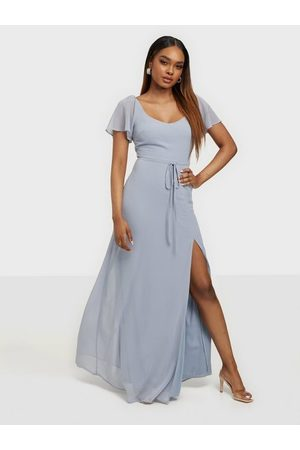 NLY Dame Maxikjoler - Frill Sweetheart Gown Dusty Blue