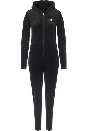 Onepiece Onesies - Original Velvet Slim Jumpsuit Black
