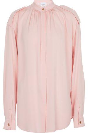 Burberry Dame Bluser - Silk crêpe blouse