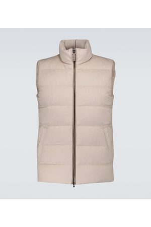 HERNO Silk and cashmere-blend gilet