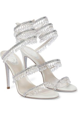 RENÉ CAOVILLA Chandelier embellished leather sandals