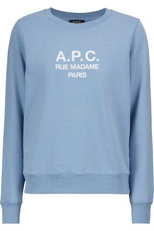 A.P.C. Dame Sweatshirts - Tina logo cotton sweatshirt