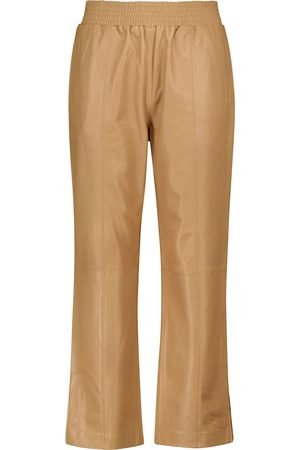 Frame Gym cropped straight leather pants