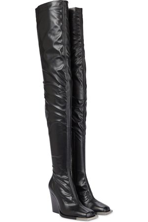 Peter Do Faux leather over-the-knee boots