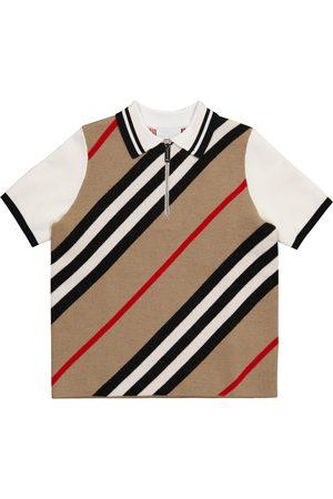 Burberry Icon Stripe wool-blend polo shirt