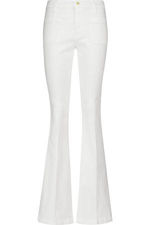 Frame Le Bardot high-rise flared jeans