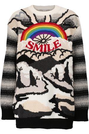 Stella McCartney Intarsia-knit wool and cotton sweater