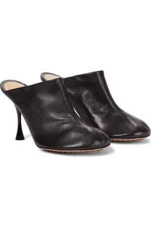 Bottega Veneta Dot Sock leather mules