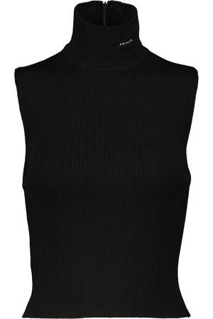 Prada Turtleneck ribbed-knit top