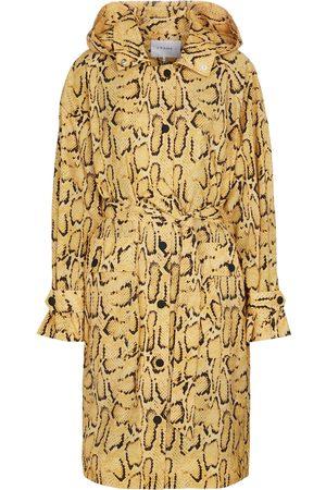 Frame Python-print trench coat