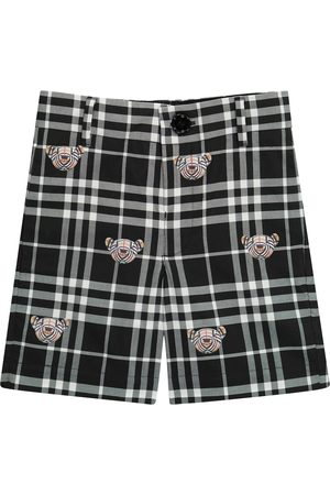 Burberry Thomas Bear checked cotton shorts