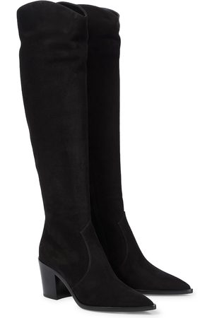 Gianvito Rossi Suede knee-high boots