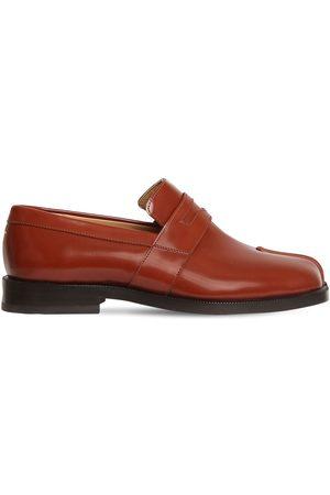 Maison Margiela 20mm Tabi Brushed Leather Loafers