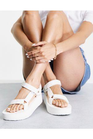Teva Dame Platåsandaler - Universal flatform chunky sandals in white