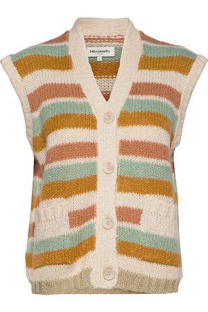 Lollys Laundry Dame Vester - Celine Vest Vests Knitted Vests Gul