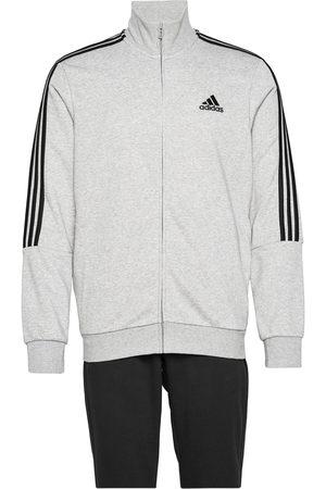 adidas Performance Aeroready Essentials 3-Stripes Track Suit Sweat-shirts & Hoodies Tracksuits - SETS Grå
