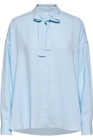 3.1 Phillip Lim P212-2060crp / Ls Satin Crepe Shirt W Tie Bluse Langermet