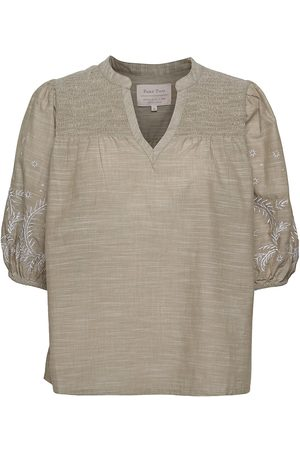 Part Two Jessypw Bl Blouses Short-sleeved Beige